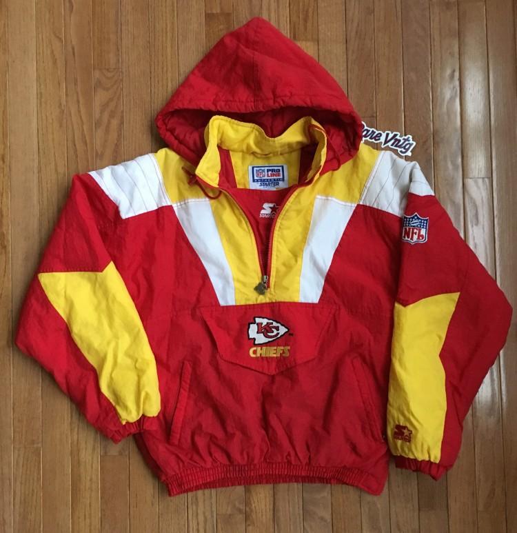 best website 18907 0fef9 Vintage Kansas City Chiefs Starter NFL Pullover Jacket Size Medium