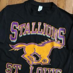 Vintage 1993 St. Louis Stallions NFL T shirt