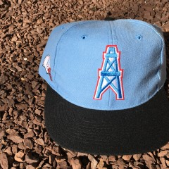 Vintage Houston Oilers ANCO Blockhead snapback hat