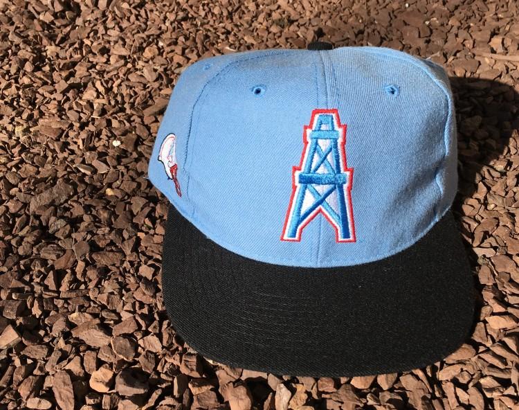 0c0a75800fe Vintage Houston Oilers ANCO Blockhead snapback hat. vintage American Needle  ...