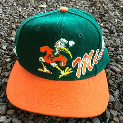 Vintage Miami Hurricanes NCAA snapback hat
