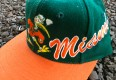 Vintage 90's Apex one Miami Hurricanes Snapback hat