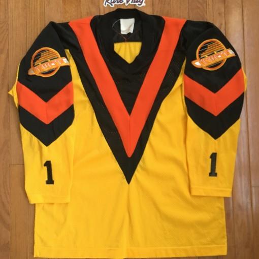 Vintage Vancouver Canucks Geln Hanlon NHL Jersey