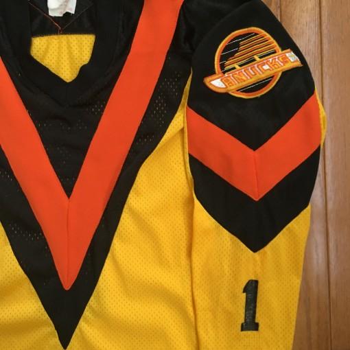 Rare Yellow Big V Vancouver Canucks jersey