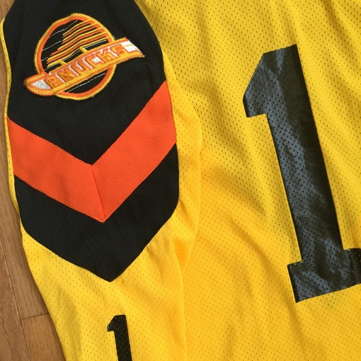 vintage 1979 Vancouver Canucks Yellow jersey