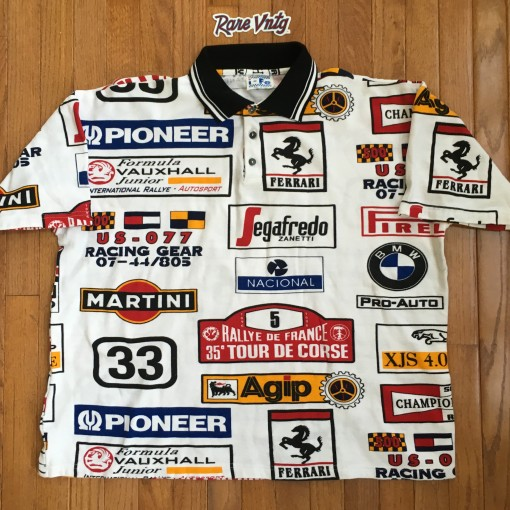 vintage 90's I-FE Racing Polo Shirt
