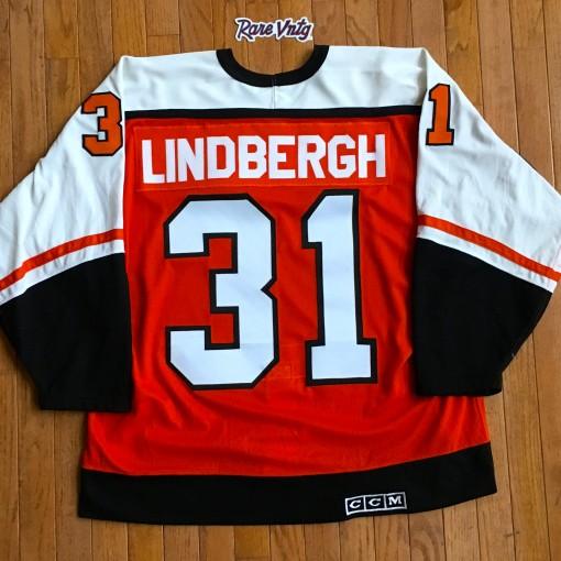 Vintage pelle Lindbergh Philadelphia Flyers CCM Authentic Nhl jersey size 52