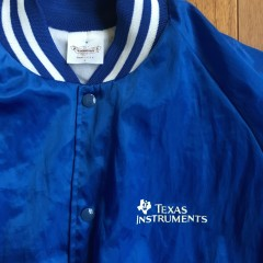 vintage 80's Texas Instruments jacket