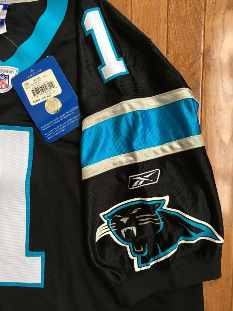 huge discount 15524 53fe4 2011 Cam Newton Carolina Panthers Authentic Reebok NFL Jersey Size 52
