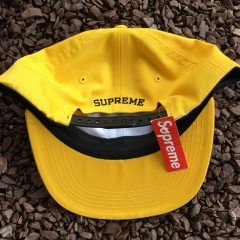 Deadstock Supreme ESP 6 Panel Hat yellow FW 15