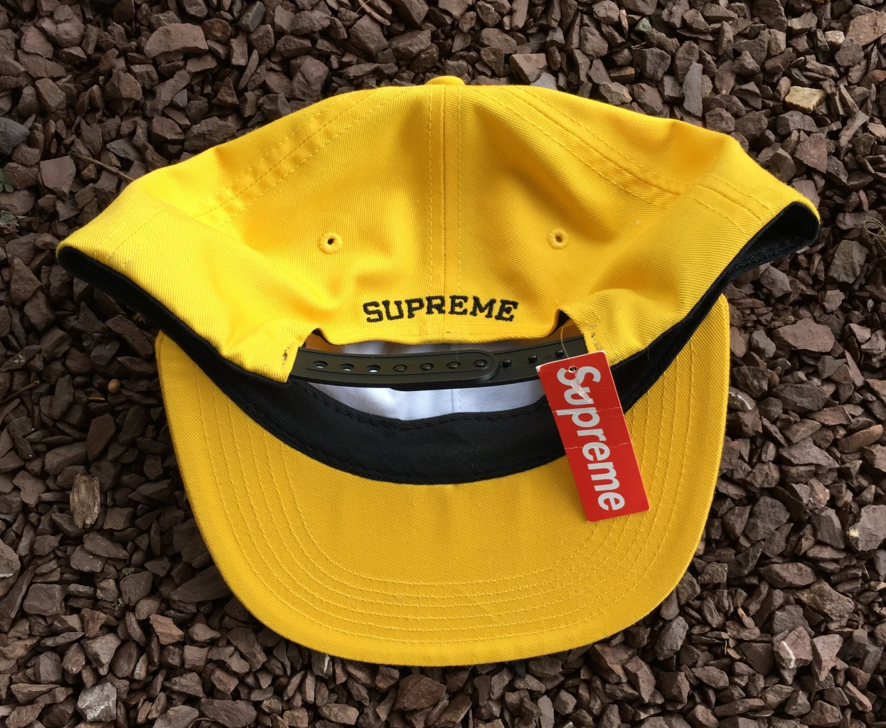 fa763a150c4 Deadstock Supreme ESP 6 Panel Hat yellow FW 15