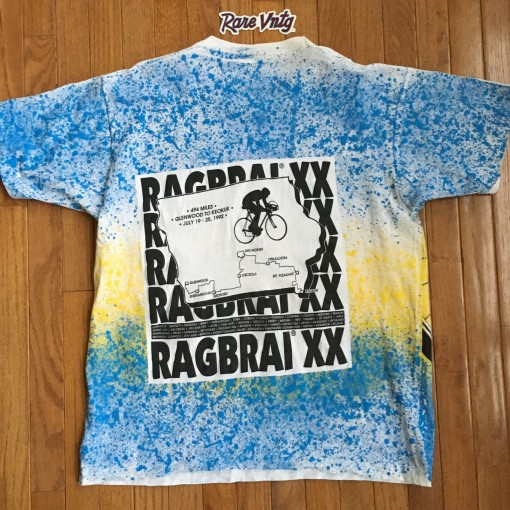 1992 Ragbrai XX Biking All Over Print T shirt
