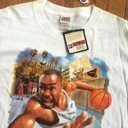 Vintage nike Tim Hardaway deadstock 90's t shirt