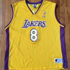 Vintage Kobe Bryant #8 Champion Los Angeles Lakers jersey