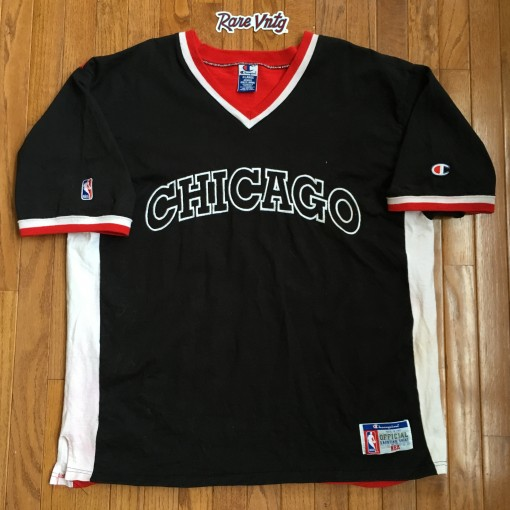 Vintage 90's Chicago Bulls Champion Authentic Shooting shirt size XL