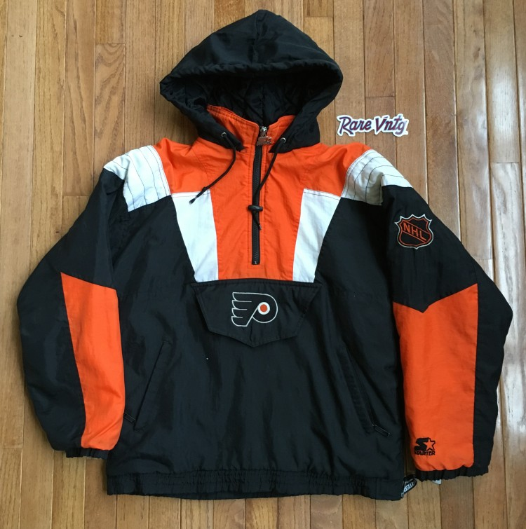 online store fce12 d81b2 90's Philadelphia Flyers Starter NHL Pullover Jacket Size Large