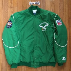 Vintage Philadelphia Eagles Starter Kelly Green Bomber jacket