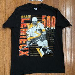 Vintage 1995 Mario Lemieux 500 Goals Penguins Shirt