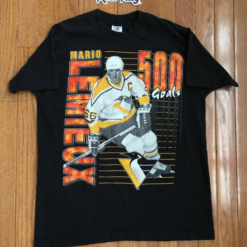 Vintage 1995 Mario Lemieux 500 Goals Penguins Shirt