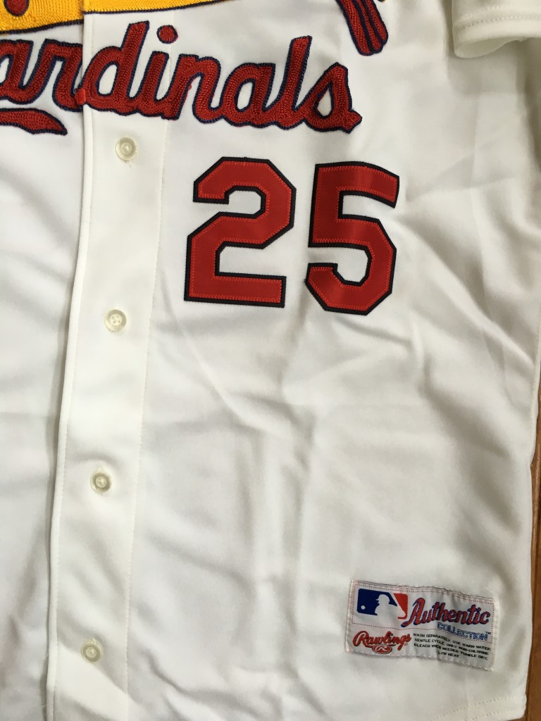 huge discount ce49b c4ef1 2001 Mark McGwire St. Louis Cardinals Authentic Rawlings MLB Jersey Size 44