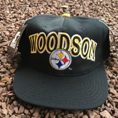 vintage 90's Rod Woodson Starter Pittsburgh Steelers NFL Snapback hat