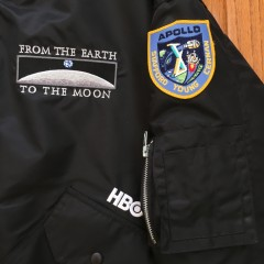 Vintage From Earth To the Moon HBO MA 1 Bomber flight jacket