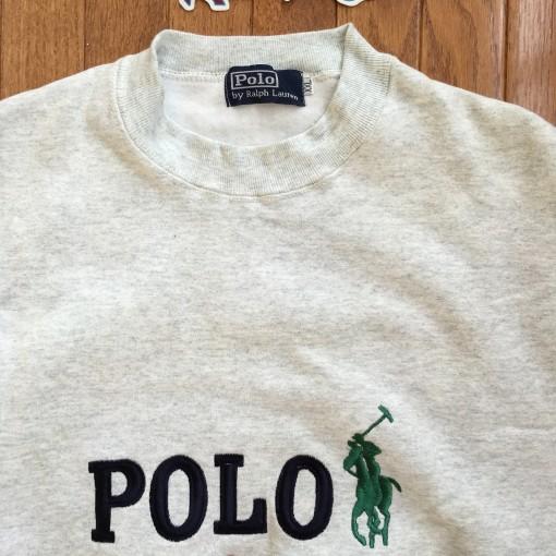 Vintage Polo Ralph Lauren Grey Crewnekc