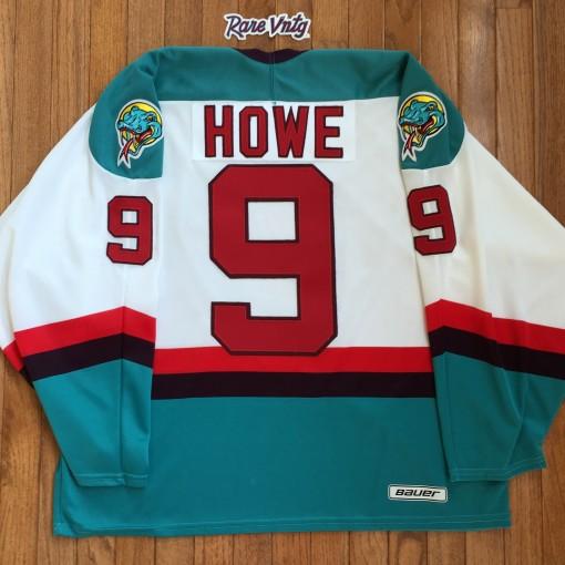 Vintage Gordie Howe Detroit Vipers 1 game AHL Jersey