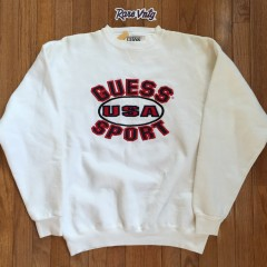 Vintage 90's Guess Sport USA Crewneck Sweat shirt size large