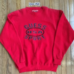 Vintage Guess Sport USA Crewneck red 90's