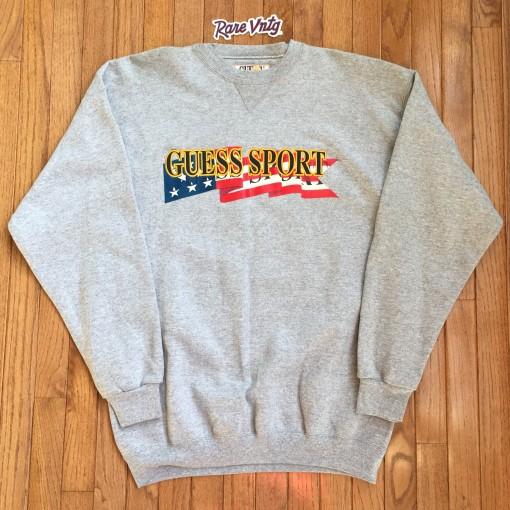 Vintage 90's Guess Sport Grey crew neck