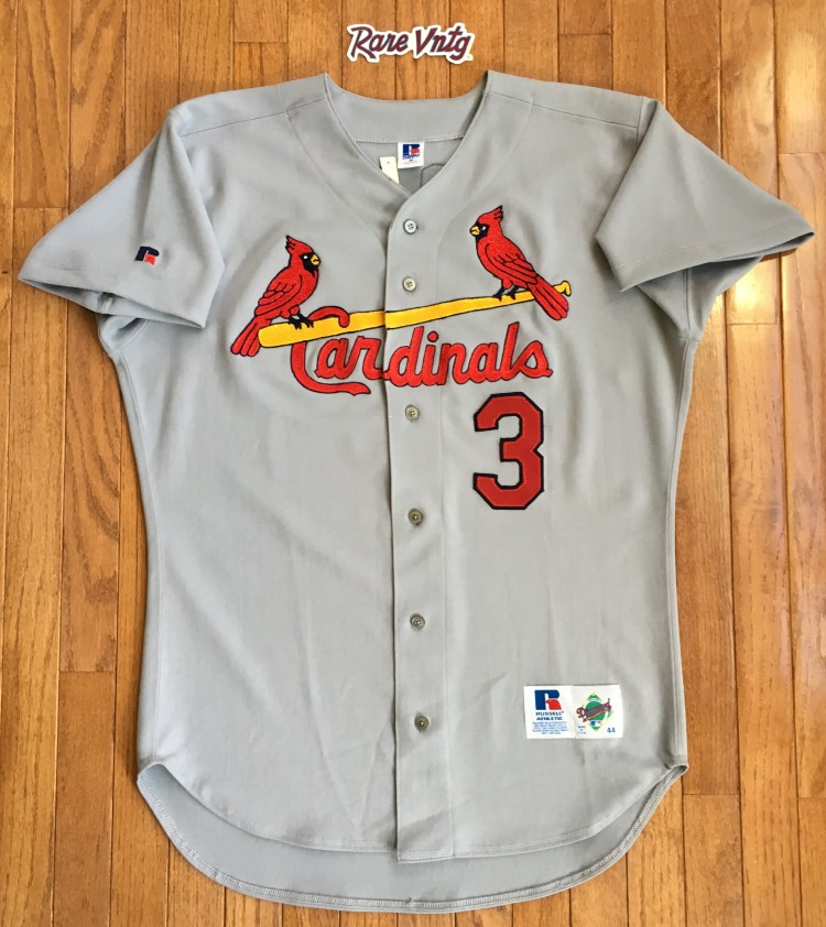 newest 390c2 656eb 1995 Brian Jordan St. Louis Cardinals Authentic Russell MLB Jersey Size 44