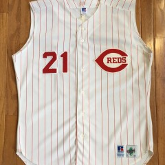 Deion Sanders Authentic Cincinnati Reds #21 Jersey
