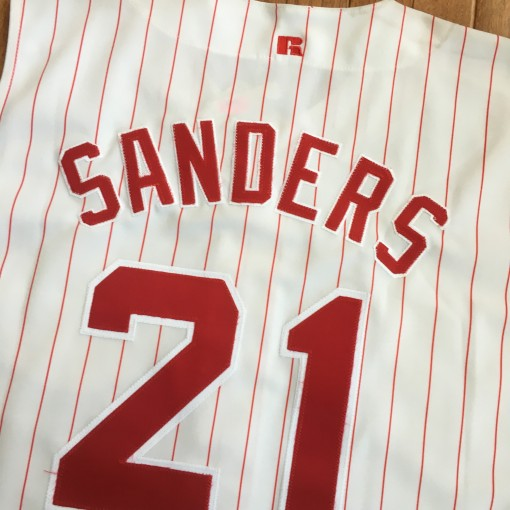 Deion Sanders Reds jersey