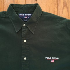 Vintage Polo Sport Lowell Sport Oxford button up size large