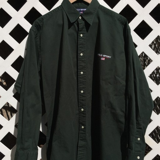 Vintage 90's Polo Sport Lowell Sport Oxford button up shirt size large