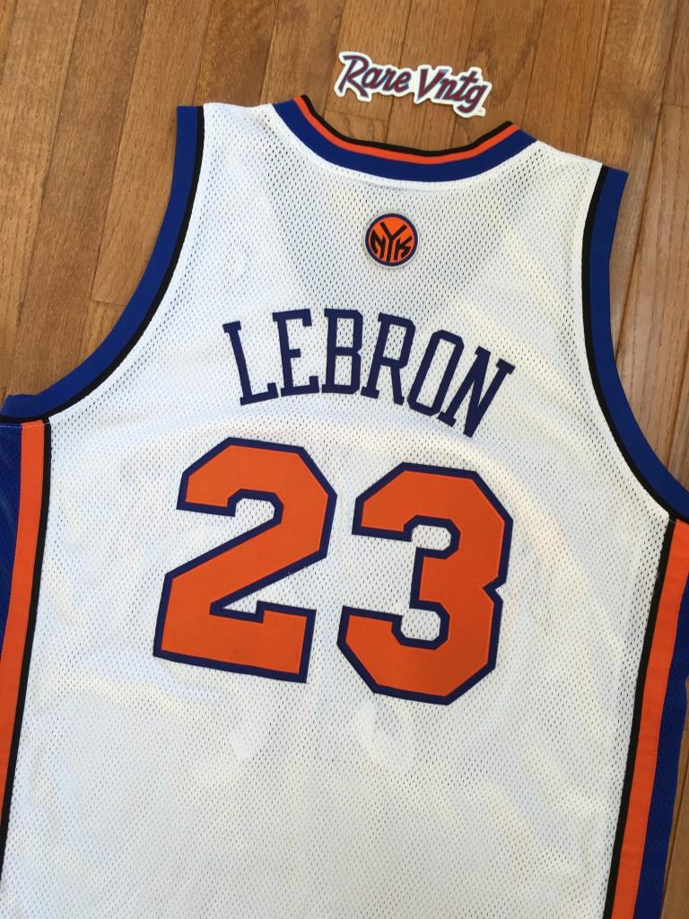 detailed look 4b7fa 11350 2010 Lebron James New York Knicks NBA Jersey Size 44