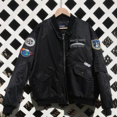 Vintage From Earth To the Moon HBO Bomber jacket black Swingster size large