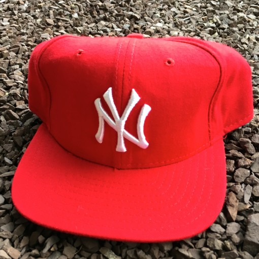 Vintage New York Yankees Red New Era Snapback hat