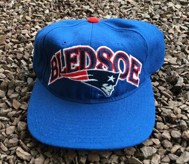 90 s Drew Bledsoe New England Patriots Starter NFL Snapback Hat ... aecc65483d7