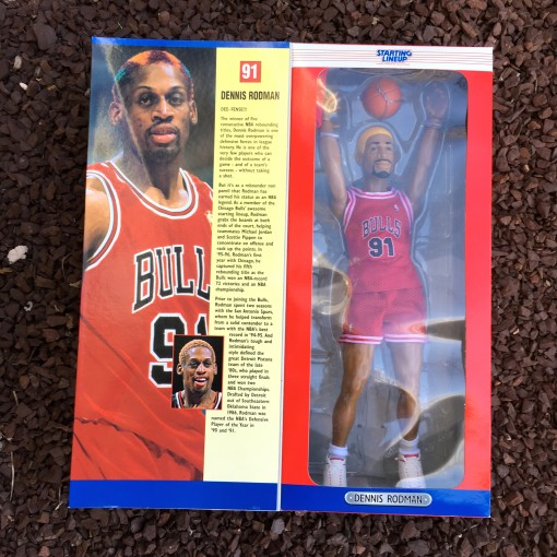 Vintage 1997 Dennis Rodman Chicago Bulls Starting Lineup Toy Figure
