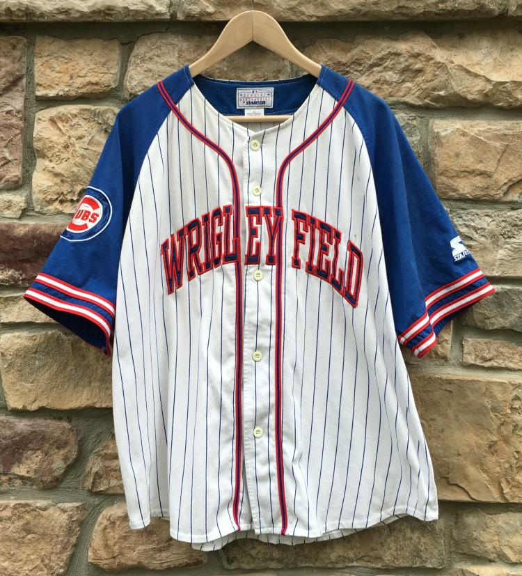 1ad8f3a2947 90 s Wrigley Field Chicago Cubs Starter MLB Jersey Size Large