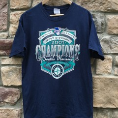 2001 Seattle Mariners AL west division champions t shirt
