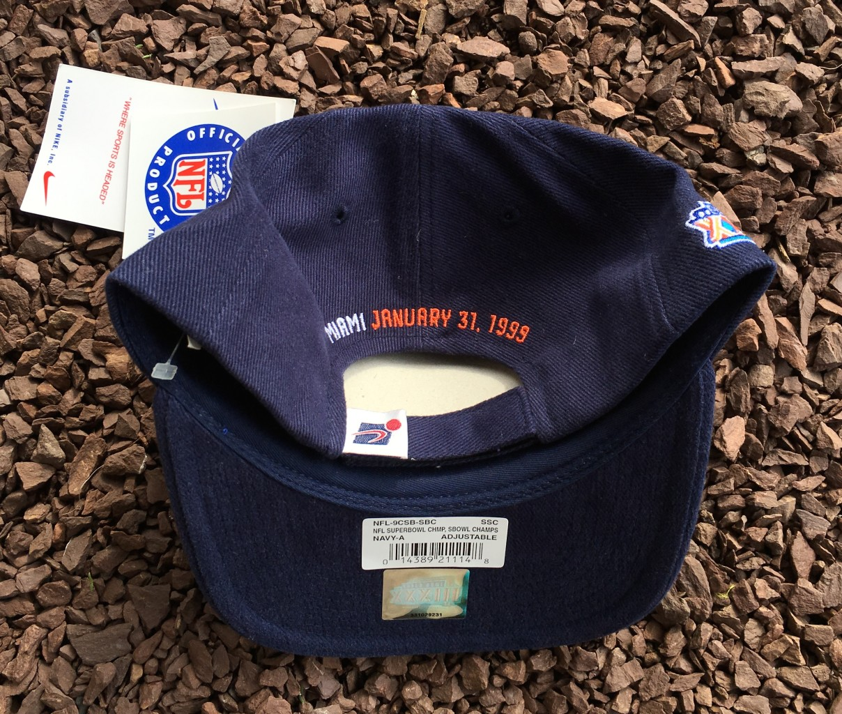 b83cff995 1998 Denver Broncos Super Bowl XXXIII Champs Sports Specialties Hat ...