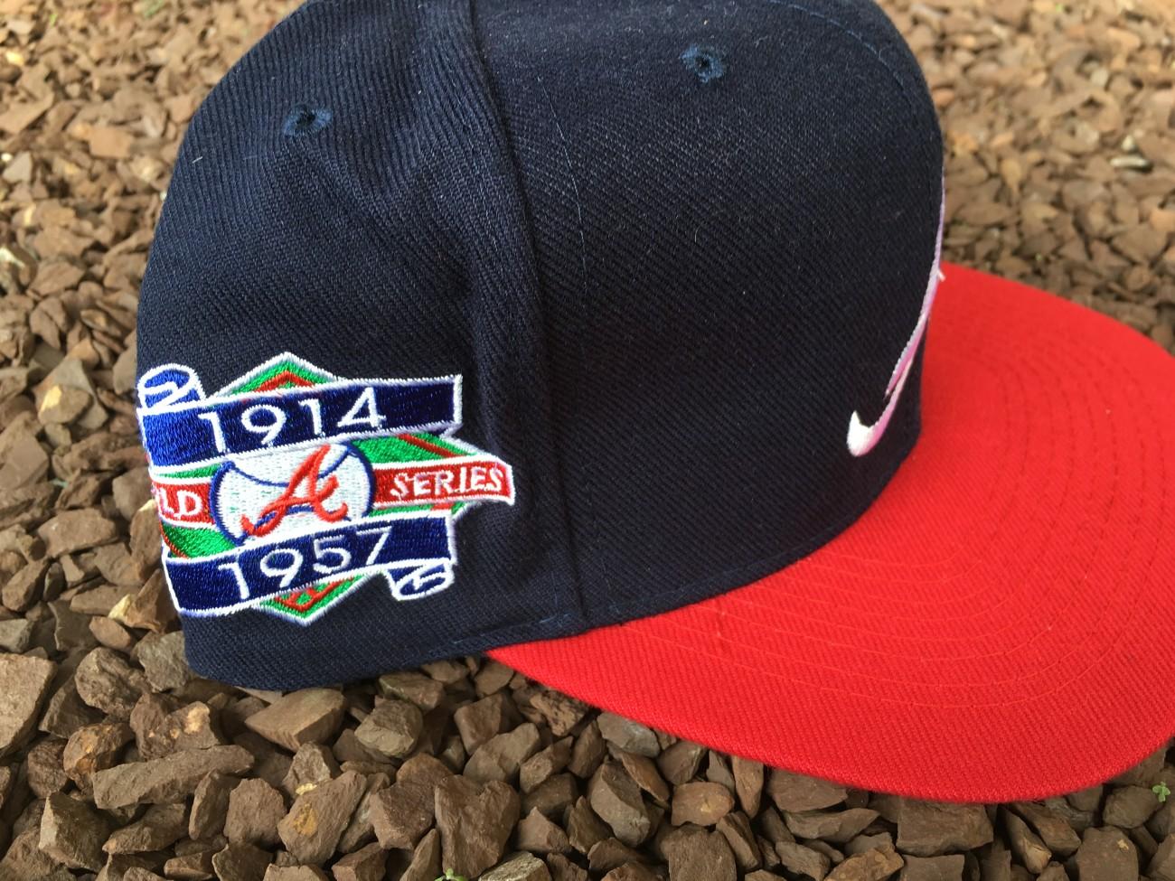 be6572a7 90's Atlanta Braves World Series Champions ANNCO MLB Snapback Hat