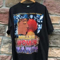 Vintage 1997 Million Woman March T shirt