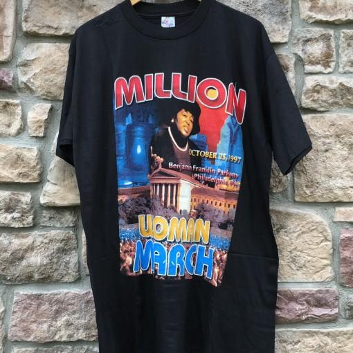 October 25, 1997 Million Women March t shirt xxl