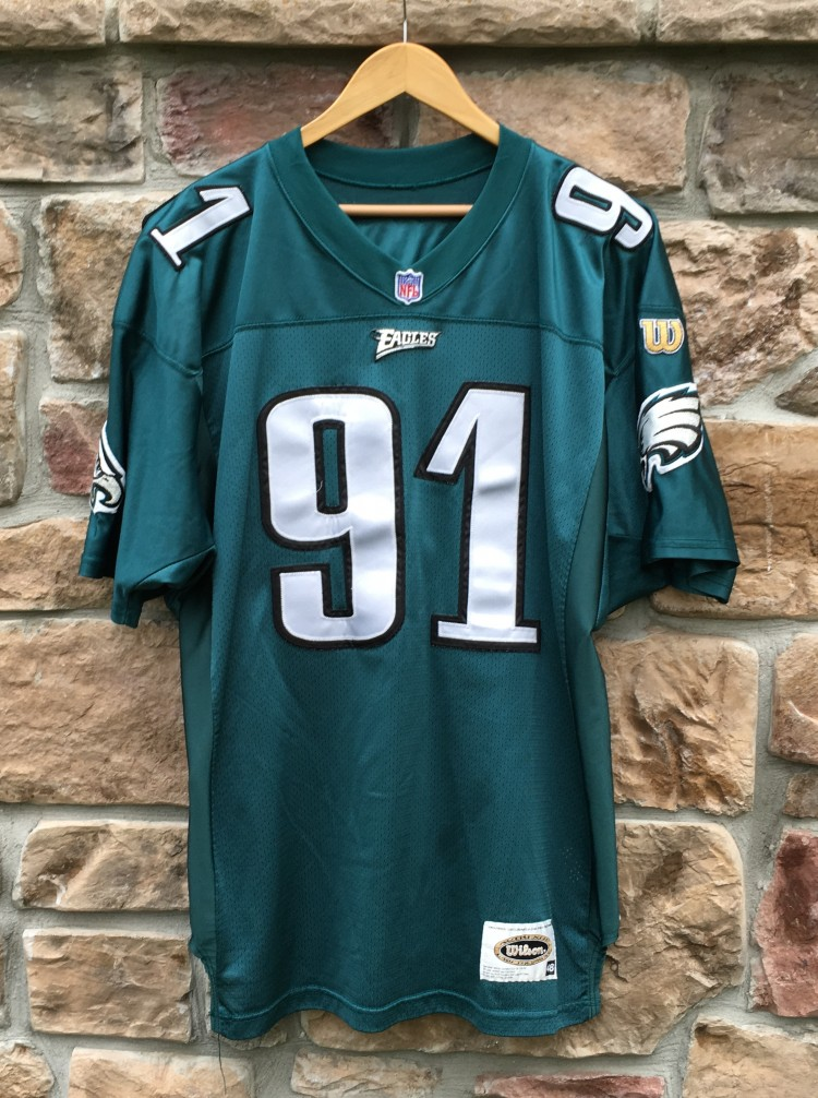 49e3b97b5613 1996 Philadelphia Eagles Andy Harmon authentic wilson jersey. authentic  vintage ...