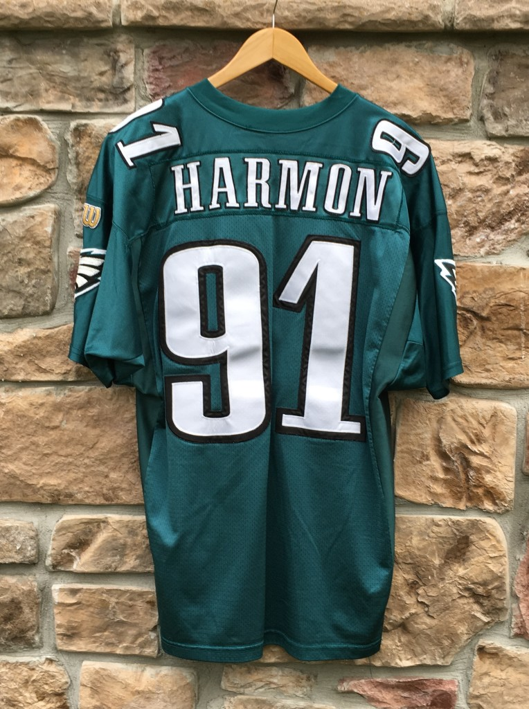 34b63273f302 1996 Andy Harmon Philadelphia Eagles Wilson Authentic NFL Jersey ...