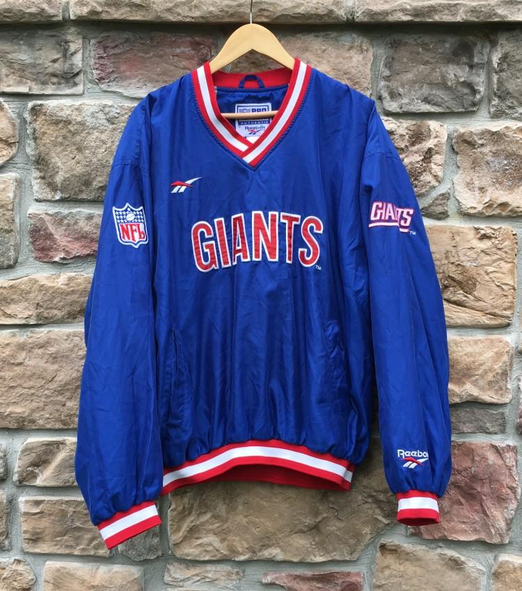 best service 0c649 4cc70 90's New York Giants Reebok Pro Line Pullover NFL Jacket Size XL